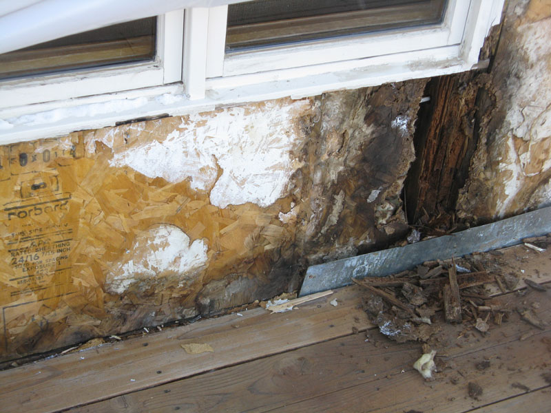 Water damage to exterior of Colorado home