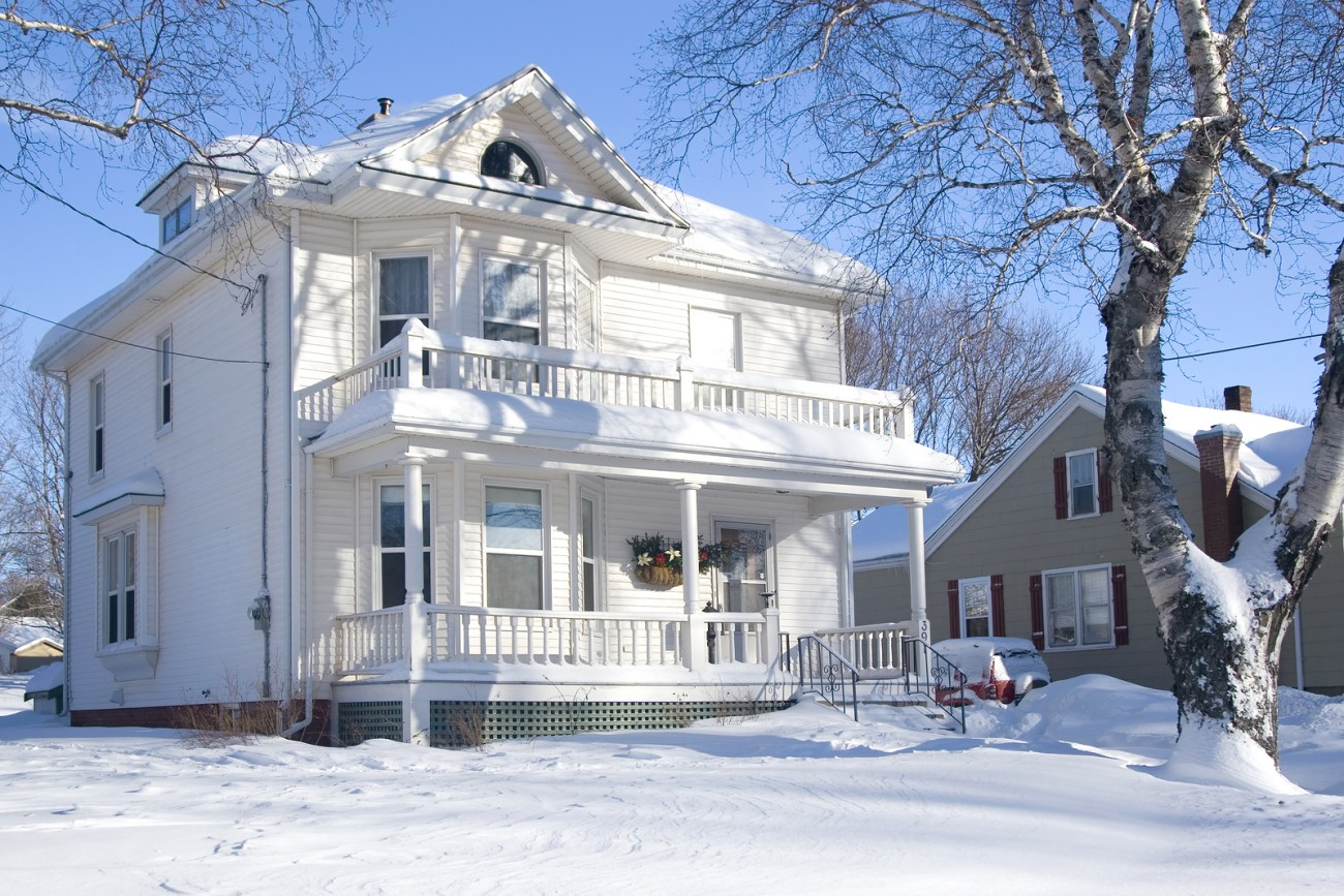 Signs of winter snow damage to your stucco home or building